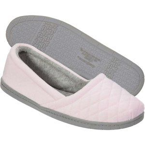 NWT Dearfoams Quilted Velour Slippers Medium Pink